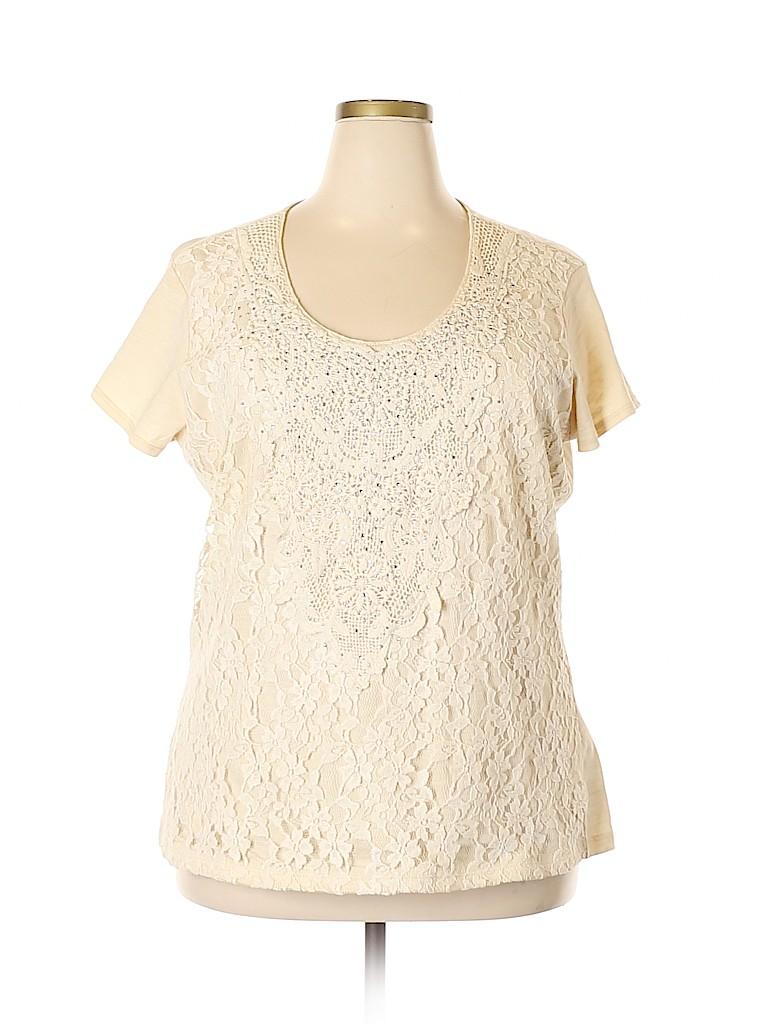 Reba Women Short Sleeve Top Size 2X (Plus)