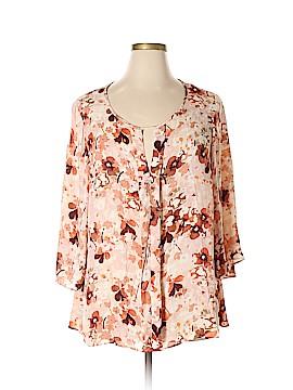 Rose & Olive 3/4 Sleeve Blouse Size 2X (Plus)
