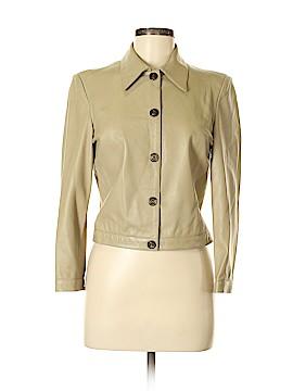 Giorgio Armani Leather Jacket Size 42 (IT)