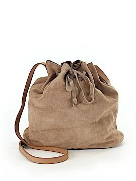 Zara Leather Bucket Bag One Size