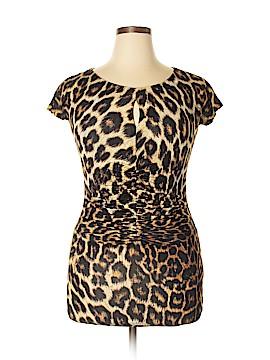 Just Cavalli Short Sleeve Blouse Size 48 (IT)