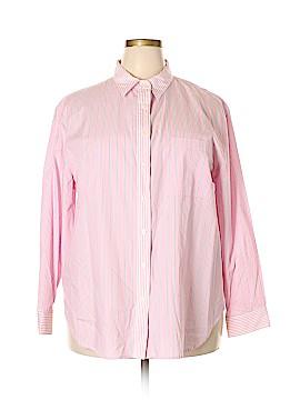 Jones Jeans Long Sleeve Button-Down Shirt Size 2X (Plus)