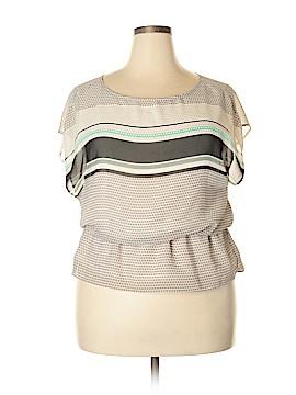 Ann Taylor Factory Short Sleeve Blouse Size 16