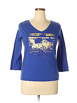 Caribbean Joe 3/4 Sleeve T-Shirt Size L