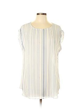 Rose & Olive Short Sleeve Blouse Size L