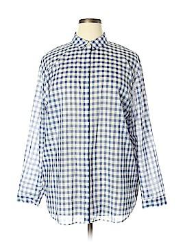 Lafayette 148 New York Long Sleeve Button-Down Shirt Size XL