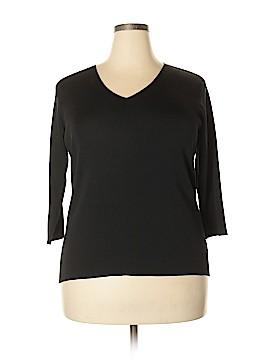 Dana Buchman Silk Pullover Sweater Size 1X (Plus)