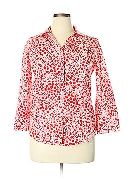 Talbots 3/4 Sleeve Button-Down Shirt Size 14