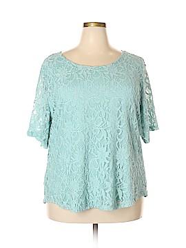 Draper's & Damon's Short Sleeve Top Size 2X (Plus)