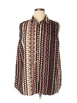 Roaman's Sleeveless Button-Down Shirt Size 20 (Plus)