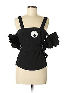 Tea & Cup Short Sleeve Blouse Size M