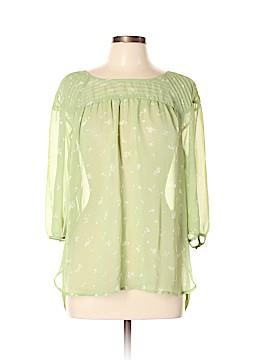 LC Lauren Conrad 3/4 Sleeve Button-Down Shirt Size L