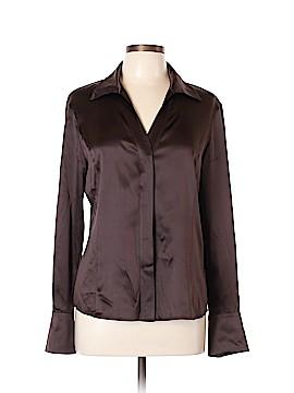 Lafayette 148 New York Long Sleeve Silk Top Size 10