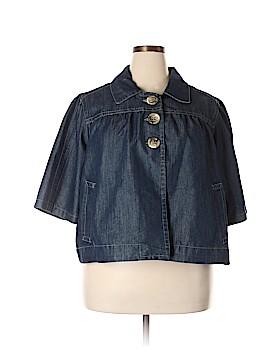 Baccini Denim Jacket Size 3X (Plus)