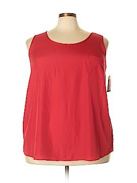 Faded Glory Sleeveless Button-Down Shirt Size 3X (Plus)