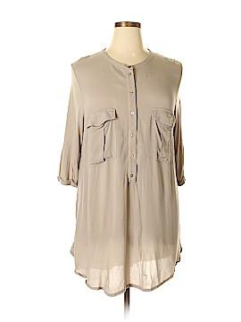 H&M 3/4 Sleeve Button-Down Shirt Size XL