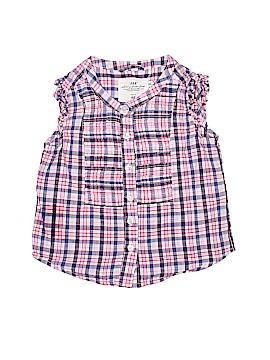 H&M L.O.G.G. Sleeveless Button-Down Shirt Size 2T