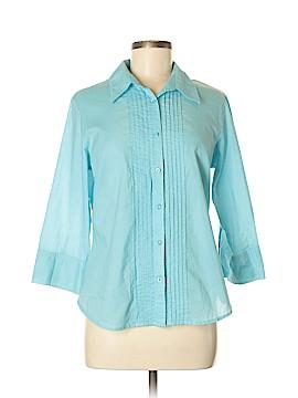 Talbots 3/4 Sleeve Button-Down Shirt Size M