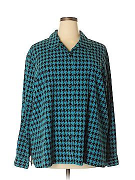 Denim & Co Long Sleeve Button-Down Shirt Size 2X (Plus)