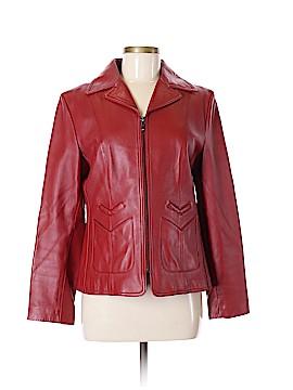 Nine West Leather Jacket Size M