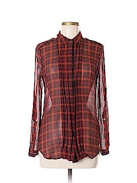 Burberry Brit Long Sleeve Silk Top Size M