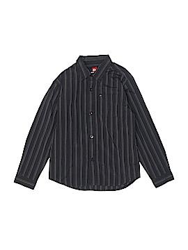 Quiksilver Long Sleeve Button-Down Shirt Size L (Kids)