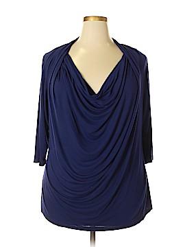 Ellen Tracy 3/4 Sleeve Top Size 3X (Plus)