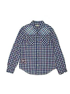 Guess Long Sleeve Button-Down Shirt Size 12/14