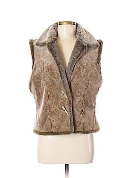 J.jill Faux Fur Vest Size M
