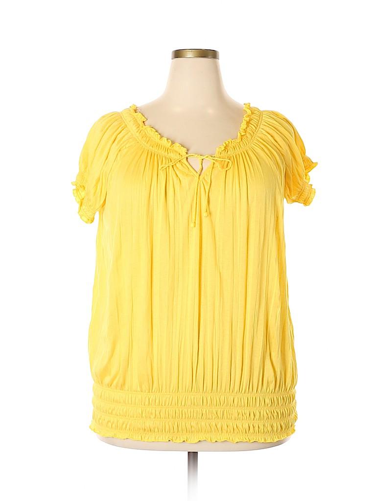 Bobbie Brooks Women Short Sleeve Blouse Size 3X (Plus)