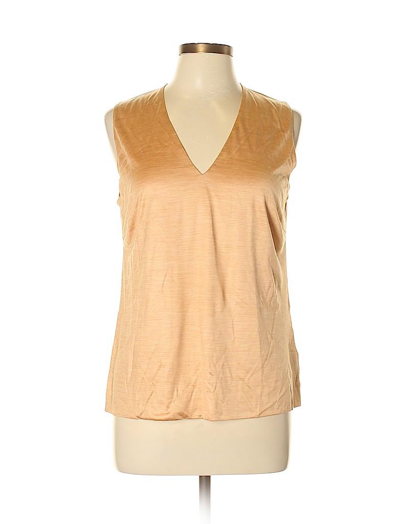 AKRIS for Bergdorf Goodman Women Sleeveless Silk Top Size 14