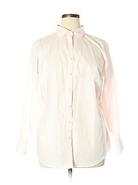 Lands' End Long Sleeve Button-Down Shirt Size 16W