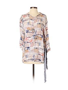 Mono B 3/4 Sleeve Button-Down Shirt Size S