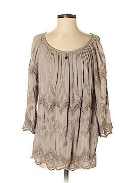 Saks Fifth Avenue 3/4 Sleeve Silk Top Size S