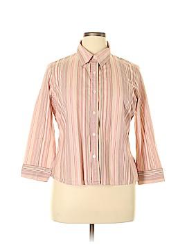 Villager Long Sleeve Button-Down Shirt Size 14