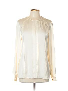 Trina Turk Long Sleeve Silk Top Size L