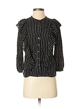 Madewell 3/4 Sleeve Silk Top Size XXS