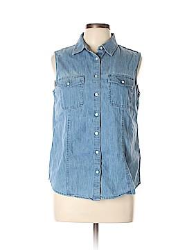 Talbots Sleeveless Button-Down Shirt Size 12