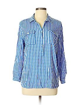 Talbots 3/4 Sleeve Button-Down Shirt Size L