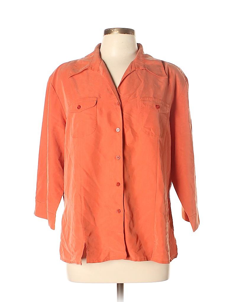 DressBarn Women 3/4 Sleeve Button-Down Shirt Size XL