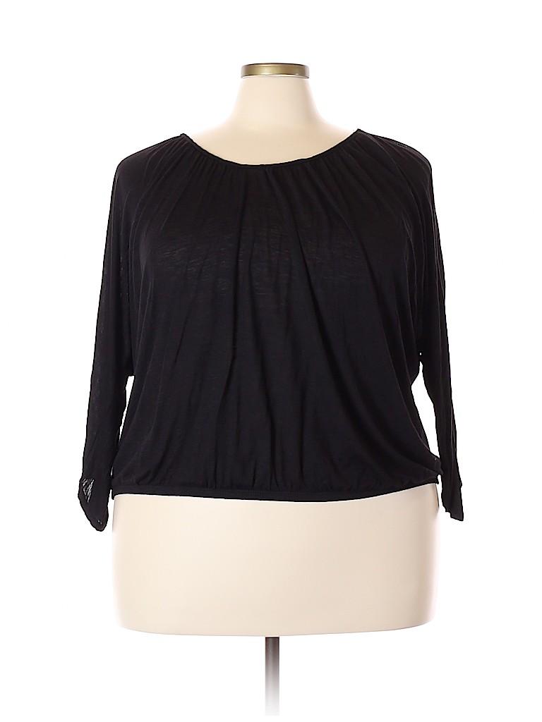 American Rag Cie Women 3/4 Sleeve Top Size 2X (Plus)