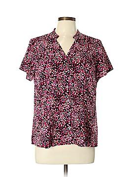 Dana Buchman Short Sleeve Blouse Size L