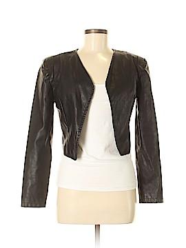 Bar III Faux Leather Jacket Size M
