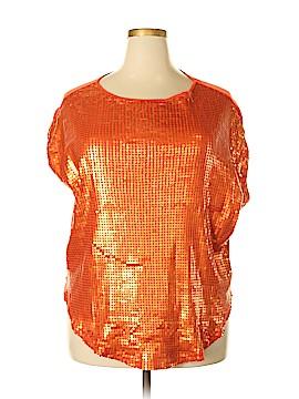 Diane Gilman Short Sleeve Blouse Size XL
