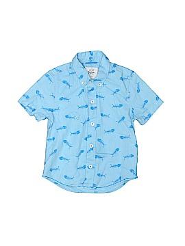 Mini Boden Short Sleeve Button-Down Shirt Size 3-4