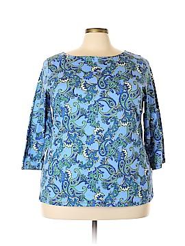 Rafaella 3/4 Sleeve T-Shirt Size 3X (Plus)