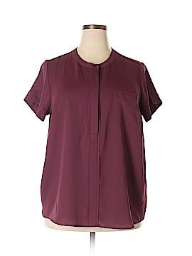Simply Vera Vera Wang Short Sleeve Blouse Size 1X (Plus)