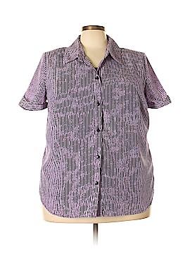 Rebecca Malone Short Sleeve Blouse Size 3X (Plus)