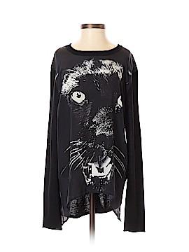 Torn by Ronny Kobo Long Sleeve Silk Top Size S