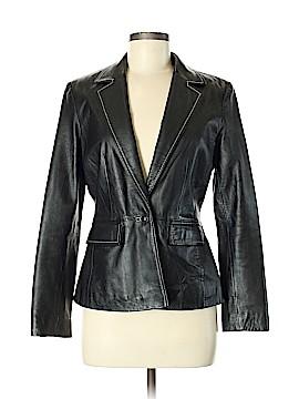INC International Concepts Leather Jacket Size 8 (Petite)